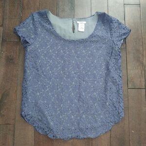 Aritzia Talula Betsy Lace Shirt Sleeve Top Size M